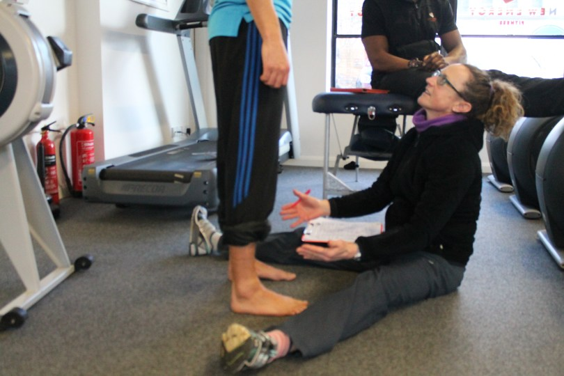 Biomechanics coaching and assessing foot structure and stability