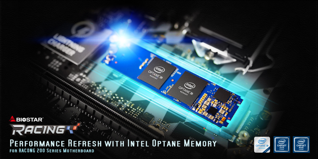 Intel® Optane™ memory-ready BIOSTAR RACING 200 series motherboards