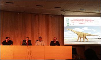 """Presentación de """"Lohuecotitan pandafilandi"""" en el Museo de Paleontología de Castilla-La Mancha en Cuenca"""