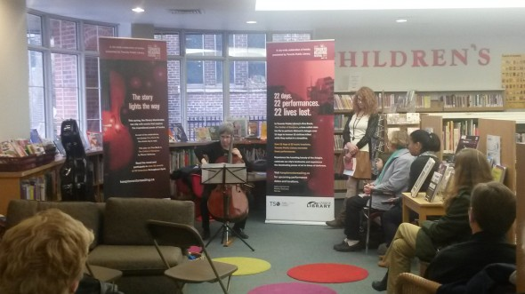 Cellist at Taylor Memorial Library