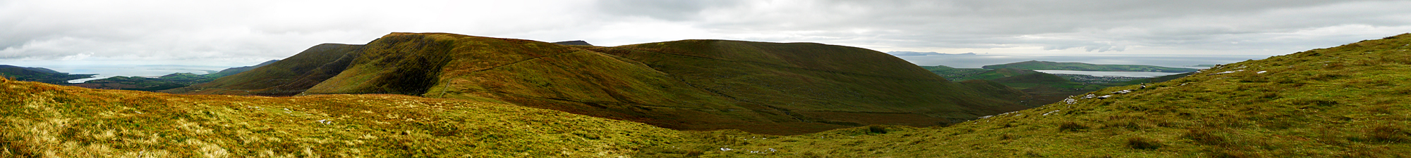 Panorama from north to south shore of Dingle Peninsula