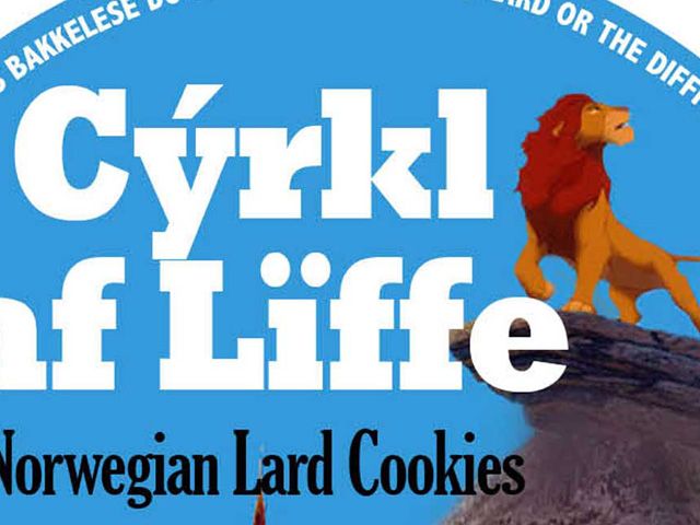 Norwegian lard cookies