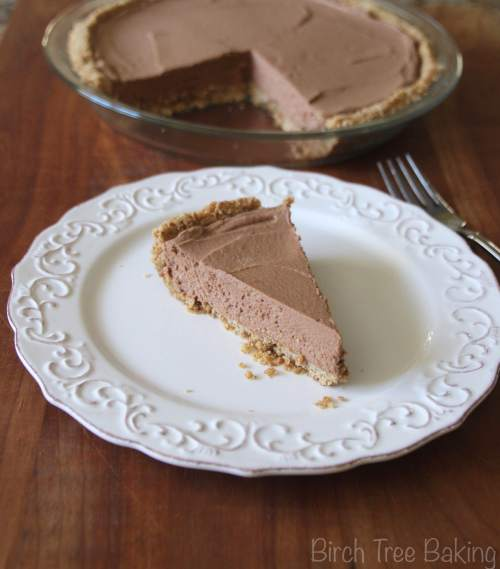 Pretzel Crusted Chocolate Pie