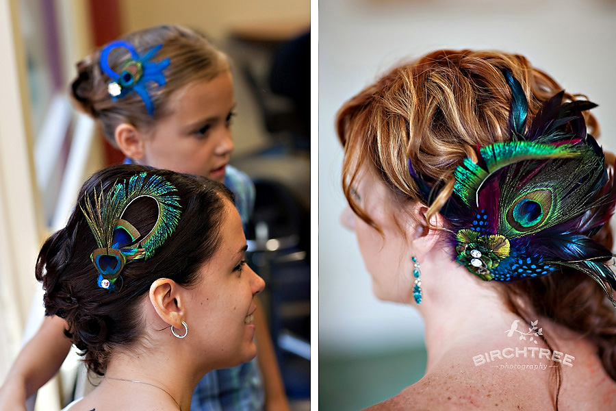 peacock feather hairpieces on etsy loved