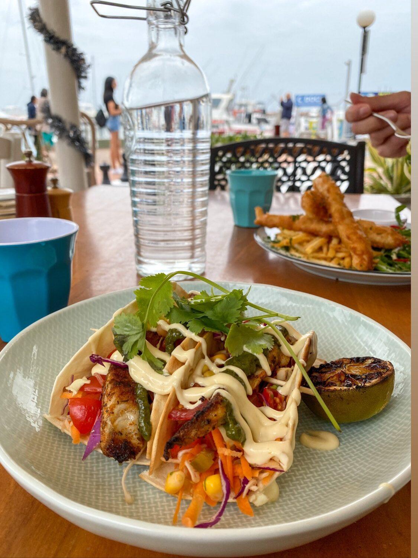 Fish Tacos, Blueys Restaurant, Nelson Bay NSW