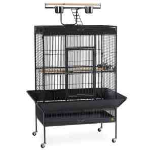 Play Top Bird Cage for Medium Large Parrots by Prevue 3154 Black