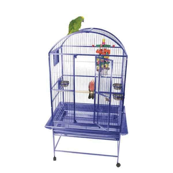Dome Top Bird Cage for Medium Large Parrots by AE 9003223 Platinum