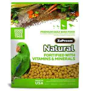 Zupreem Natural Medium Large Bird Food Pellets 3 lb (1.36 Kg)