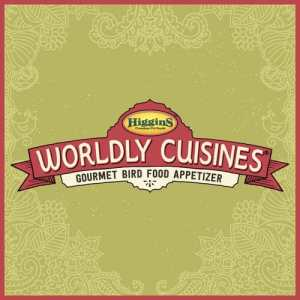 Higgins Worldly Cuisines® are the all natural bird food appetizers