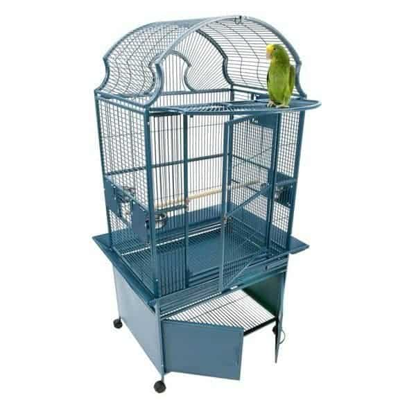 Elegant Top Bird Cage & Storage Base Cabinet by AE RY2422 Black