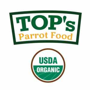 Tops parrot food USDA organic
