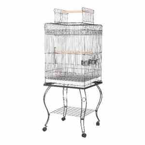 Flat Top Bird Cage for Smaller Parrots by AE 600H White