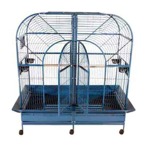 Divided Bird Cage for Large Parrots by AE 6432 Black