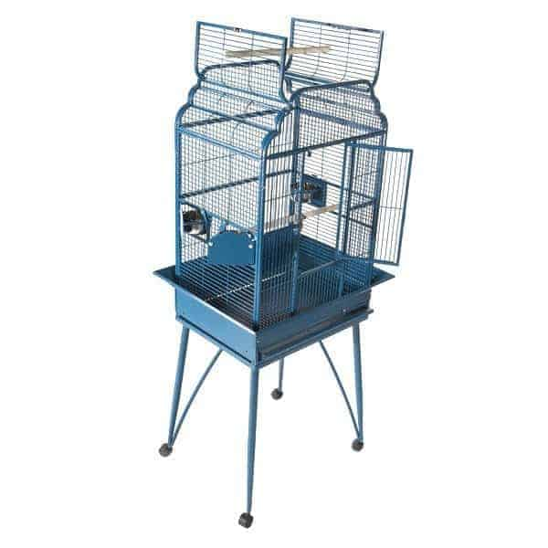 Elegant Top Bird Cage for Small Birds by AE B-2217 Platinum