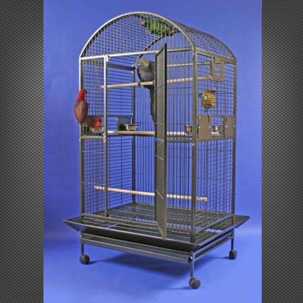 Dome Top Bird Cage for Large Parrots by AE 9004030 White