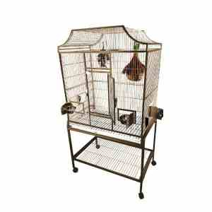 Elegant Top Flight Cage for Smaller Birds by AE MA3824FL Platinum
