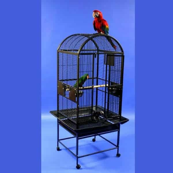 Dome Top Bird Cage for Medium Parrots by AE 9002422 Black