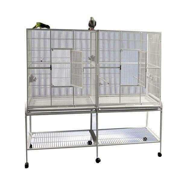 Divided Bird Aviary Cage for Smaller Birds by AE 6421 Sandstone