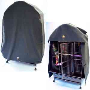 Cozzzy 32 Inch x 24 Inch Bird Cage Cover for Dome Top Cages – 3224DT – Black