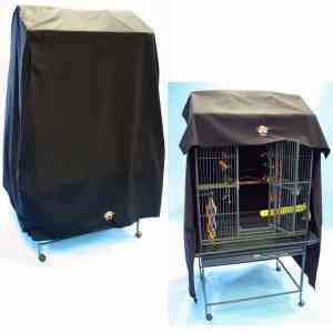 Cozzzy 32 Inch x 21 Inch Parrot Cage Cover for Flat Top 13221 cages – 3221FT – Black