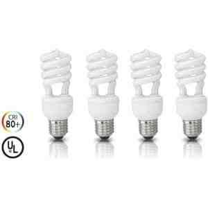 4 Pack Full Spectrum Economy Daylight Bulb 100 Watt (Uses 23W)