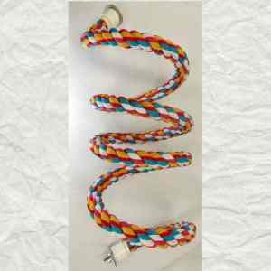 Bungee Flexible Rope Perch Happy Trails Bolt On XLarge 96″