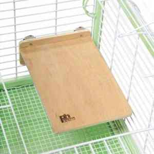 Flat Perch Wood Platform Shelf Birds Animals Large 12″