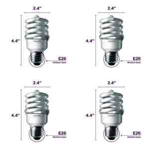 Economy fluorescent full spectrum bulb 4 - pack