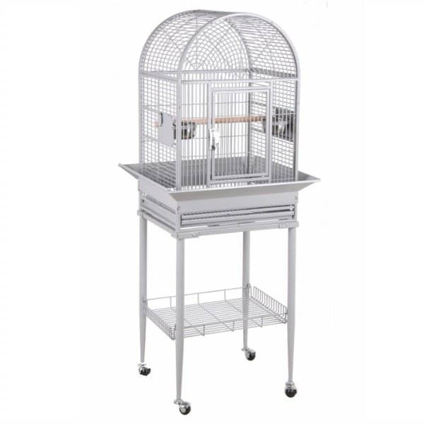 Dome Top Bird Cage for Small Birds by HQ 21816 Platinum