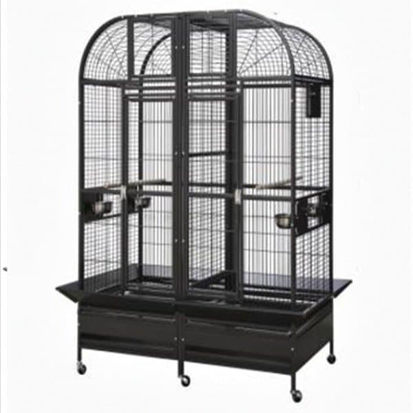 Divided Bird Cage for Large Parrots HQ 36432D Platinum