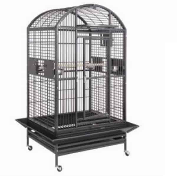 Dome Top Bird Cage for Large Birds by HQ 90040D Black