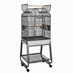 Scroll Top Bird Cage for Small Birds by HQ 82217C Black