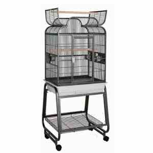 Scroll Top Bird Cage for Small Birds by HQ 82217C Platinum