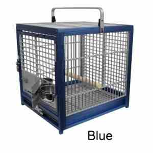 Aluminum Travel Cage for Medium Birds by King's Cages Bronze ATS1719