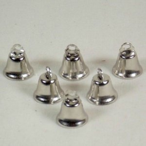 Liberty Bells for Bird Toys Nickel Plated 14 mm 6 pc