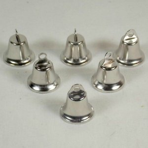 Liberty Bells for Bird Toys Nickel Plated 22 mm 6 pc