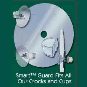Smart Crock Locking Debris Guard for Dish or Bath
