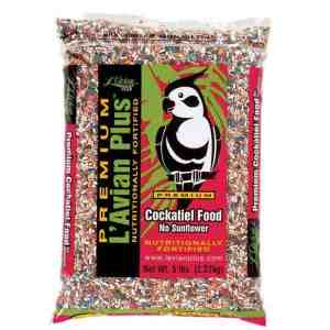 L'Avian Cockatiel Food Plus Premium Seed Mix No Sunflower 5 lb (2.27 Kg)