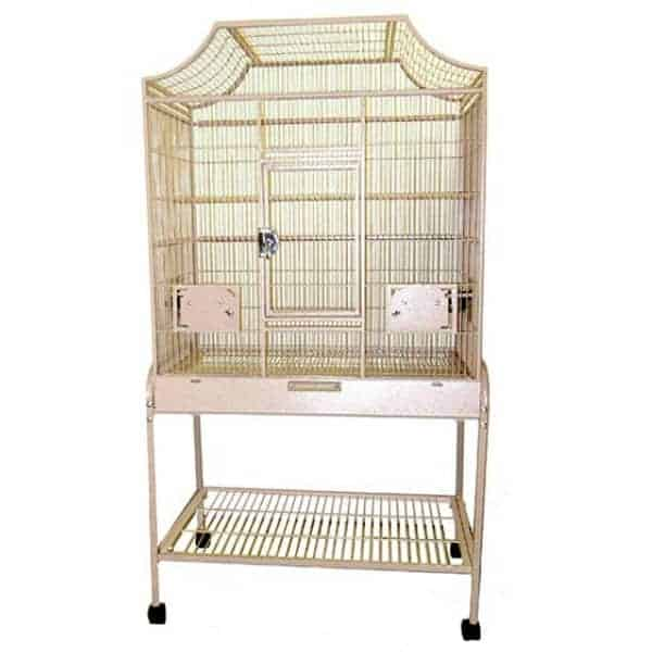 Elegant Top Flight Cage for Smaller Birds by AE MA3221FL Platinum