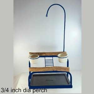 Deluxe Table Top Bird Stand Midnight Blue w 3/4 inch Perch