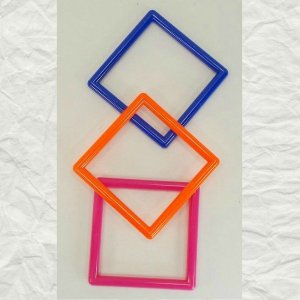 Marbella Style Square for Bird Toys 4″ 3 pc