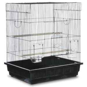 Flat Top Small Bird Bird Cage by Prevue 25212 Black