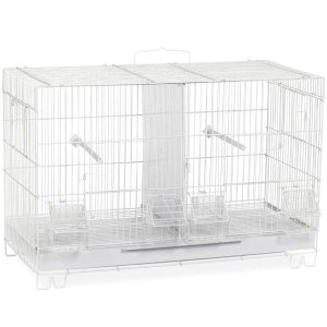 Breeder Cage Stackable Divided for Canaries Prevue F060 White 4 pc