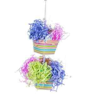 Prevue Calypso Creations Bird Toy for Small Parrots – Baskets of Bounty