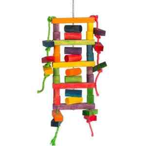 Bodacious Bird Toy for Large Parrots – Blockhead