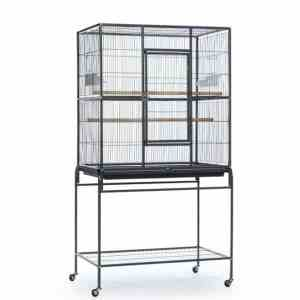 Indoor Aviary Flight Cage for Small Birds by Prevue F046 Black