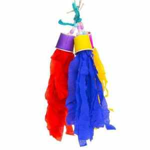 Prevue Calypso Creations Bird Toy for Small Parrots – Rocket Tails