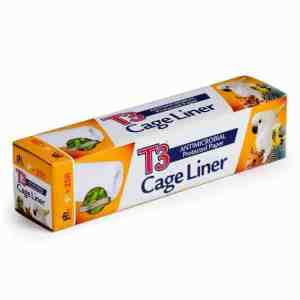 T3 Bird Cage Liner Paper by Prevue 9″ x 25′ Long
