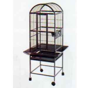 Dome Top Bird Cage for Smaller Parrots by AE 9001818 Platinum