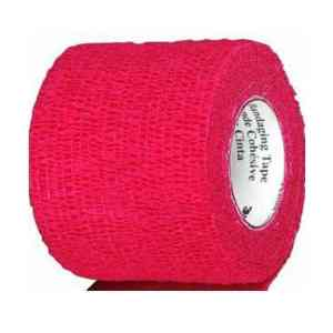 First Aid Self Adhering Tape Vet Wrap No Clips No Adhesive Red